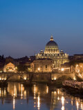 St Peter's Basilica and Ponte Sant'Angelo, Rome, Italy Photographic Print by Michele Falzone