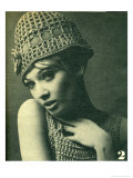 Crochet Knit Cloche Hat Posters