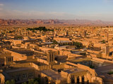 Panorama of Yazd with Its Windtowers, Yazd, Iran Photographic Print by Michele Falzone