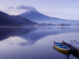 Mt. Fuji and Lake Kawaguchi, Kansai Region, Honshu, Japan Photographic Print by Peter Adams