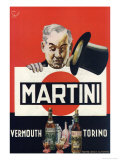 Martini Top Hat Print