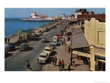 1960's Pier and Seaside Scene Print