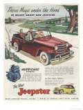 Jeepster Advertisement Poster