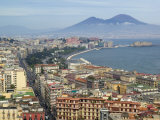Mt. Vesuvius and View over Naples, Campania, Italy Photographic Print by Walter Bibikow