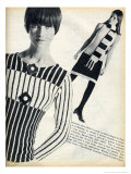 1960's Pop Striped Knitwear Giclee Print