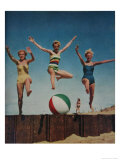 Jumping Ladies Posters