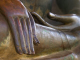 Detail of Buddha Statue, Wat Sa Si, Vientiane, Laos Photographic Print by Michele Falzone