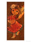 Retro Gipsy Girl Print