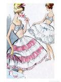 1960's Womens Lingerie Print