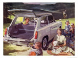 Austin A40 at Family Picnic Giclee Print