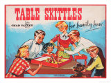 Table Skittles Game Giclee Print