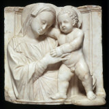 Sculpture of the Virgin and Child in Marble, c.1447-1522 Fotografisk tryk af Giovanni Antonio Amadeo