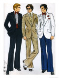 Mens Clothes Patterns Giclee Print