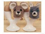 Knitted Cat and Mouse Egg Covers Posters