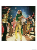 Disco Gold Giclee Print