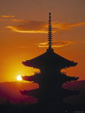 Yasaka Pagoda, Kyoto, Japan Photographic Print by James Montgomery Flagg