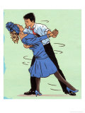 Couple Ballroom Dancing Print