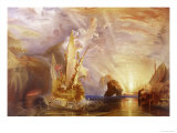 Ulysses Deriding Polyphemus Giclee Print by William Turner