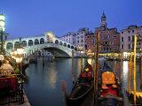 Rialtobrücke, Canale Grande, Venedig, Italien Fotodruck von Demetrio Carrasco