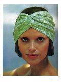 Glittery Knit Open Turban Posters