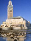 Grande Mosque Hassan II, Casablanca, Morocco Photographic Print by Peter Adams