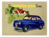 Idyllic Austin A30 Giclee Print
