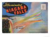 Illuminated Niagara Falls Postcard Poster