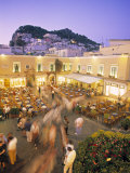 Piazzetta, Capri Town, Capri, Bay of Naples, Italy Photographic Print by Demetrio Carrasco
