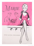 Marie Fine Gauge Stockings Giclee Print