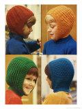 1970's Kids in Balaclavas Knitwear Giclee Print