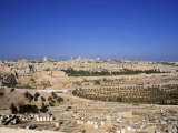Jerusalem from Mt. of Olives, Israel Photographic Print by Jon Arnold
