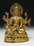 Vasudhara the Goddess of Wealth in Gilt Copper, 16th Century Photographic Print