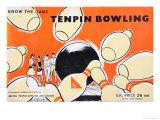 Tenpin Bowling Game Posters