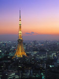 Tokyo Tower, Tokyo, Japan Photographic Print by Rex Butcher