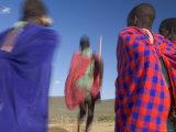 Masai Tribe, Masai Mara National Park, Kenya Fotografie-Druck von Peter Adams