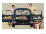 Morris Mini-Minor and Family Giclee Print