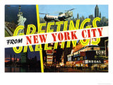 Greetings from New York Postcard Posters