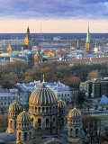 Orthodox Cathedral, Riga, Latvia Photographic Print by Jon Arnold