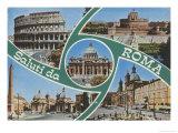 Saluti Da Roma Postcard Print