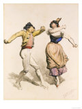 A Spanish Dance Giclee Print by Thomas Miles Richardson