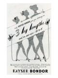1950's Kayser Hosiery Advertisement Poster
