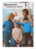 Woolworth Family Knitwear For Leisure Advertisement Poster