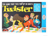 Twister Game Giclee Print