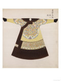 Winter Court Robe Worn by the Emperor, China Lámina giclée