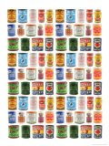 Old Canned Food Labels Posters