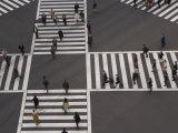 Sukiyabashi Pedestrian Crossing, Ginza, Tokyo, Japan Photographie par Gavin Hellier