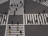 Sukiyabashi Pedestrian Crossing, Ginza, Tokyo, Japan Photographic Print by Gavin Hellier