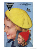 1950's Teen's Knitted Beret and Pixie Hood Prints