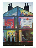 Panted House Wall Giclee Print