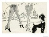 1950's Ladies with Poodle Giclee Print